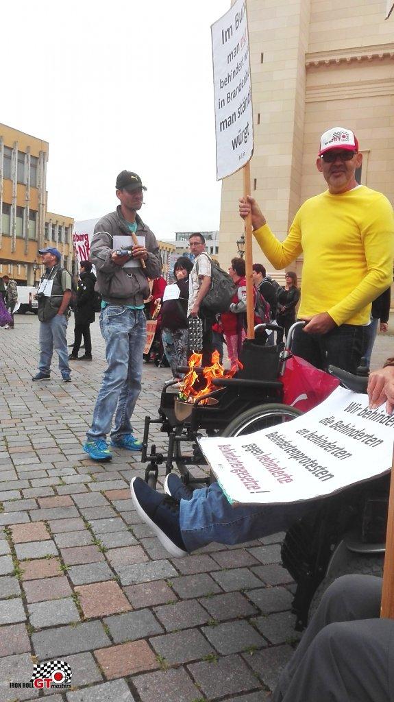 Protest am Landtag BrB